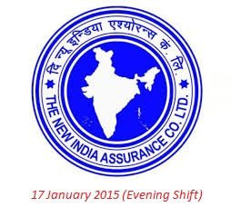 questions asked in New India Assurance exam